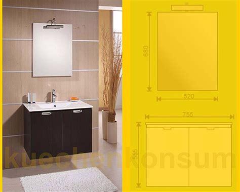 Leuchte Badezimmer by Badm 246 Bel Unterschrank Waschbecken Spiegel Leuchte