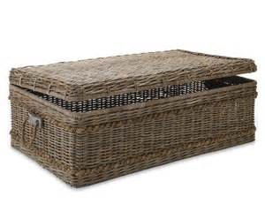Wicker Trunk Coffee Table Create A Vintage Look With A Rattan Coffee Table
