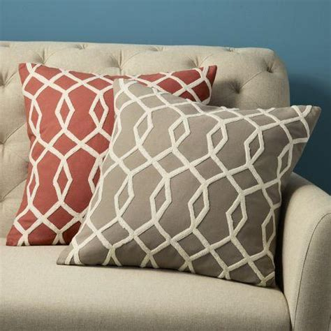 west elm pillows embroidered links pillow cover west elm