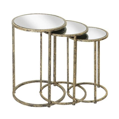mirrored nest of tables buy cheap mirrored nest of tables compare tables prices
