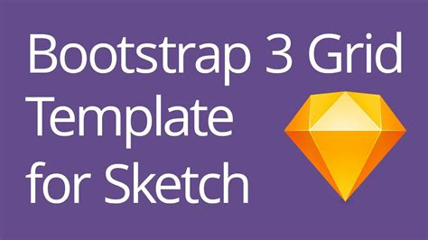 tutorial bootstrap 3 grid bootstrap 3 grid template for sketch tutorial youtube
