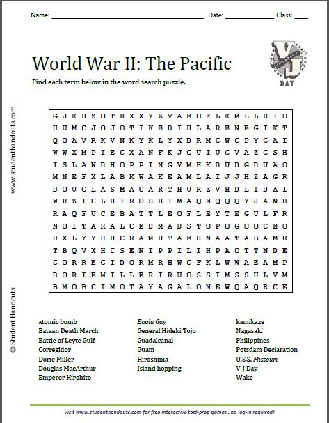 Wwii Search World War 1 Word Search Quotes