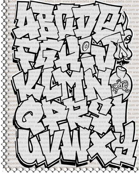 lettere tag graffiti l alphabet en tag
