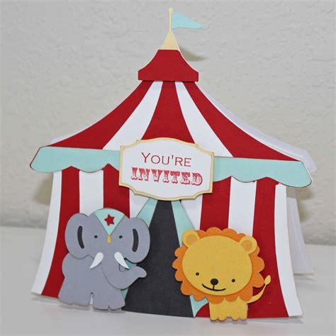 circus tent template card circus invitations invitations templates