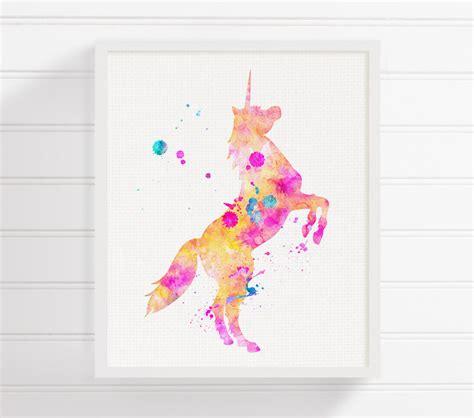 unicorn printable art unicorn art print watercolor unicorn unicorn painting