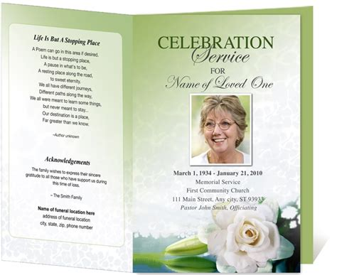 printable funeral program templates 61 best images about programs on national