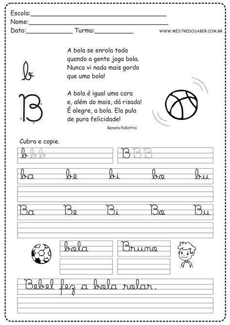 Caderno de Caligrafia para imprimir - Mestre do Saber