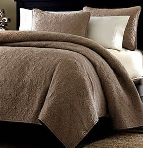 sizes oversized 3pc quilted coverlet set brown