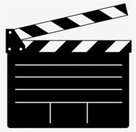 film slate emoji clapper board vector for movie or film vector free download