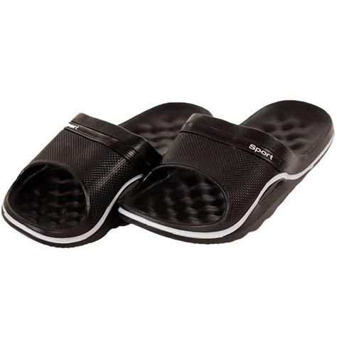 mens shower sandals mens slip on sandals sport slide shower shoes