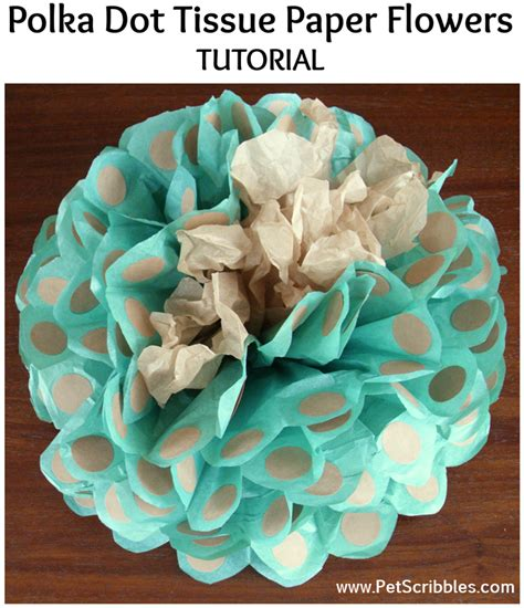 How To Make Big Tissue Paper Flowers - polka dot tissue paper flowers big