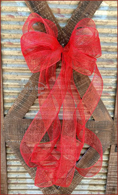 large red unity door bow package bow gift bow wreath bow