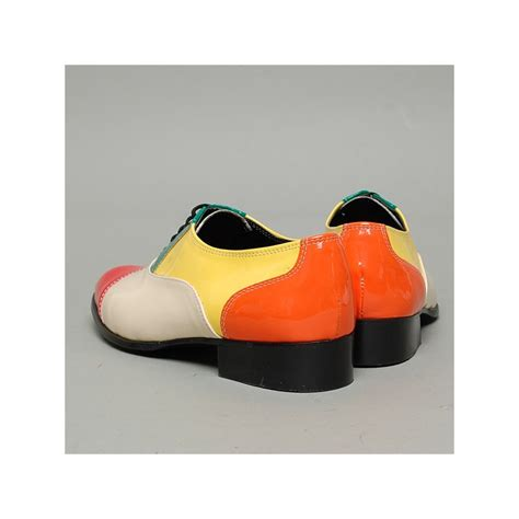 multi colored oxford shoes s cap toe glossy multi color closed lacing oxford shoes