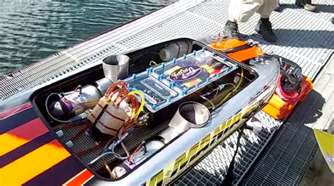rc gas boat pics what s cooler than a jet engine in a boat two jet engines