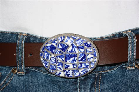Handmade Belt Buckles - my unique one of a handmade mosaic belt buckles