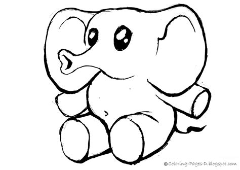 Elephant Coloring Page by Coloring Pages D Free Elephant Coloring Pages