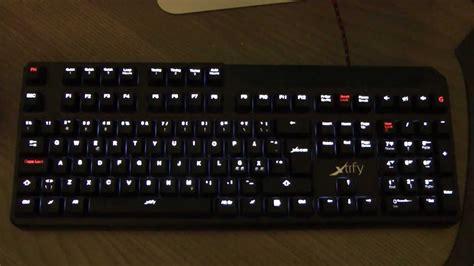 Keyboard Xtrfy xg1 r led backlit mechanical keyboard xtrfy review