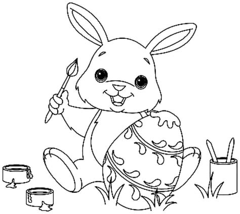 easter bunny coloring pages   fun