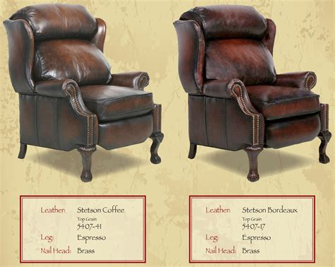 country style recliner chairs barcalounger danbury ii recliner chair leather recliner