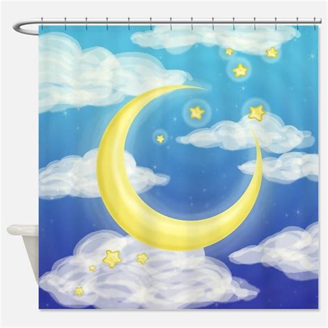 moon shower curtain moon and stars shower curtains moon and stars fabric