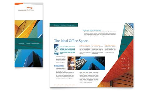 brochure pdf template commercial real estate property brochure template word