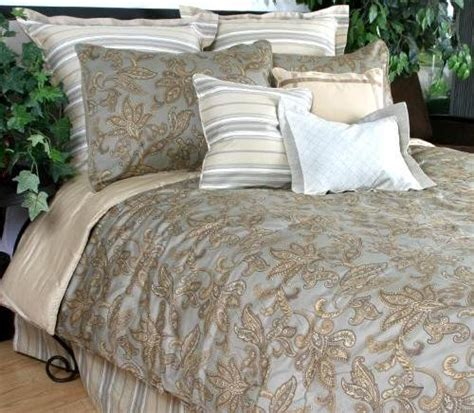 cream ruffle bedding nautica ludlow stripe tan taupe cream brown bedskirt bed