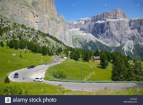 sella bolzano road sella pass trento and bolzano provinces italian