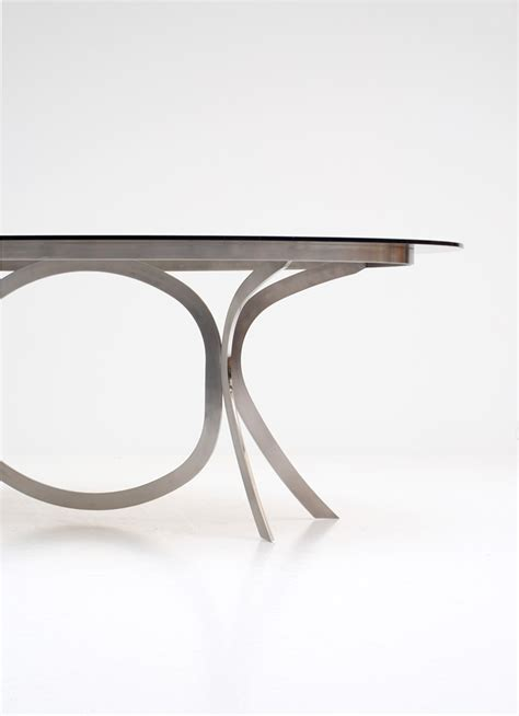 brushed stainless steel and glass dining table brushed stainless steel and chrome dining table for sale