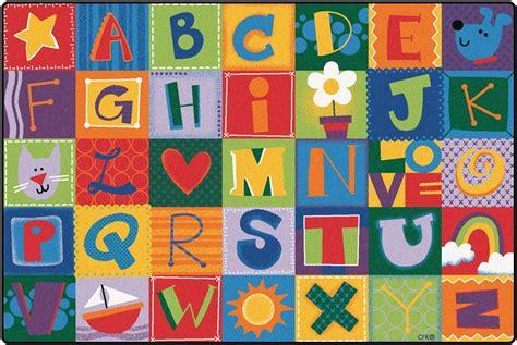 Toddler Alphabet Blocks Rug   Alphabet Area Rug for Kids