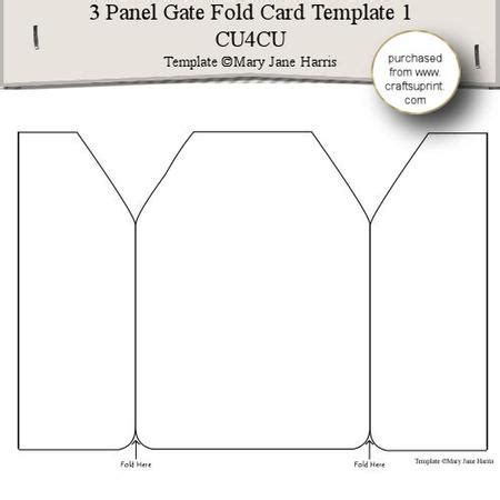 Accordion Gate Fold Card Template by 3 Panel Gate Fold Card Template 1 Cu4cu On Craftsuprint