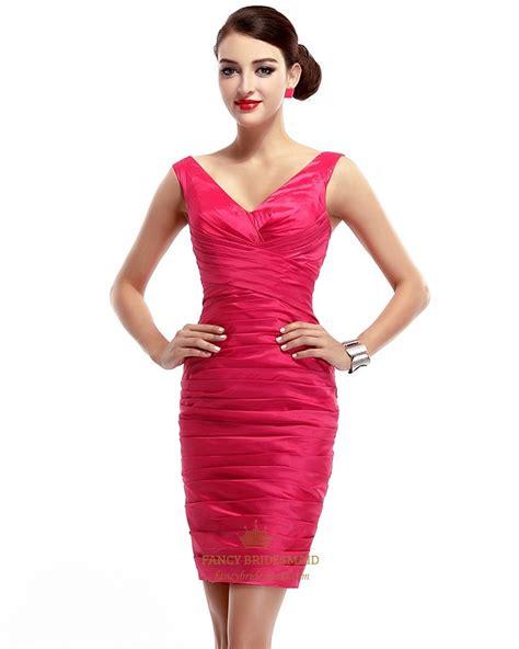 V Neck Dress Pink pink v neck embellished ruched sheath cocktail dress