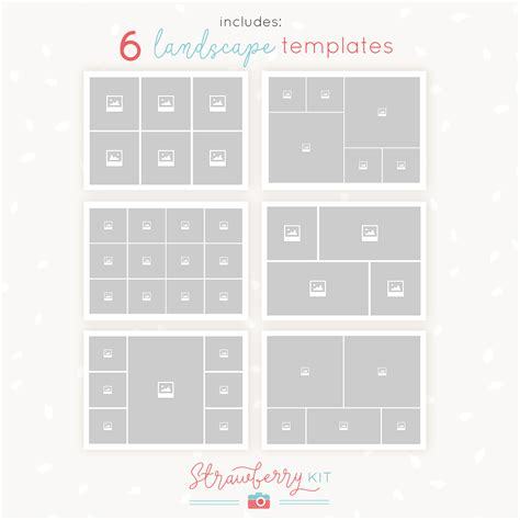 5 quot x 7 quot collage templates strawberry kit