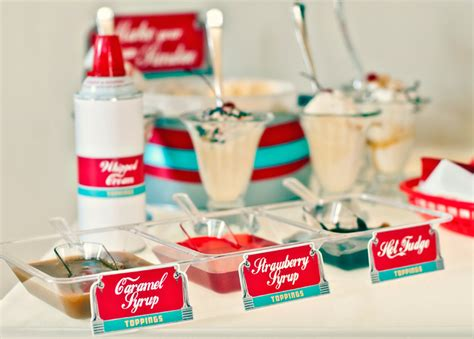 retro  diner party   sweet