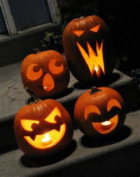 easy pumpkin carving ideas  pinterest easy
