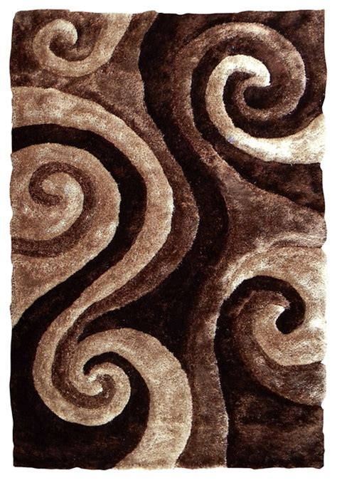 Swirl Area Rug by Abstract Swirl Design Area Rug Brown Transitional