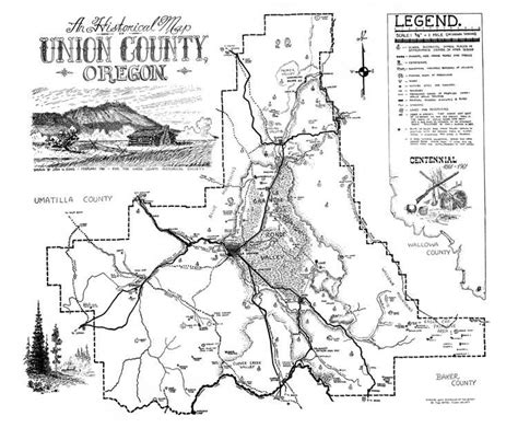 map of union oregon evan s map of union county