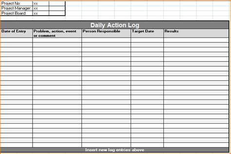 work log template 5 daily work log template teknoswitch