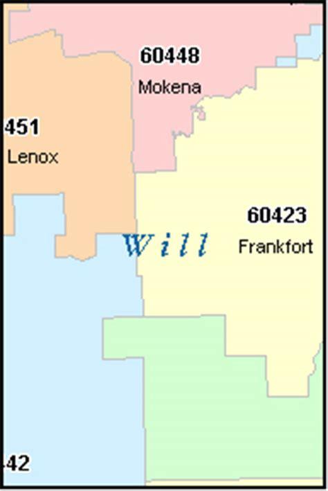 zip code map joliet il will county illinois digital zip code map