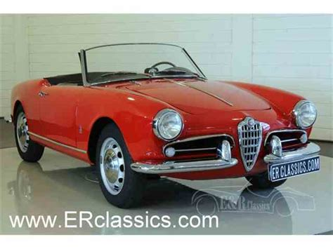 Classic Alfa Romeo For Sale by Classic Alfa Romeo Giulietta Spider For Sale On