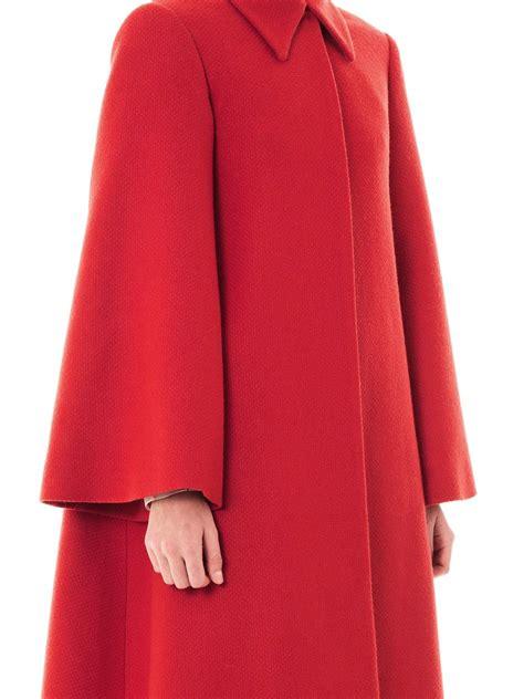 red wool swing coat emilia wickstead helena wool swing coat in red lyst