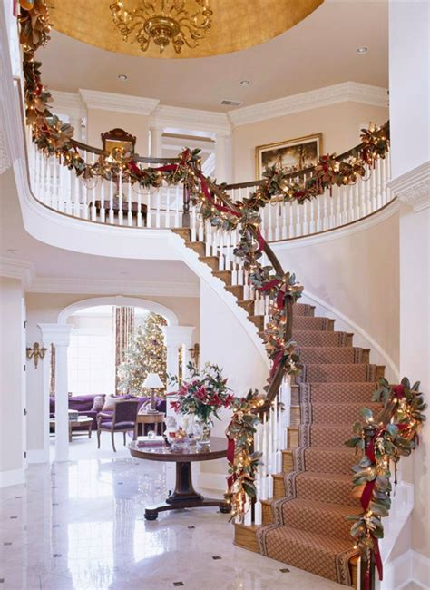 50 stunning christmas staircase decorating ideas style