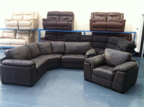Ex Display Leather Sofas Ex Display Santiago Brown Leather Corner Sofa And Armchair Outside Birmingham Birmingham