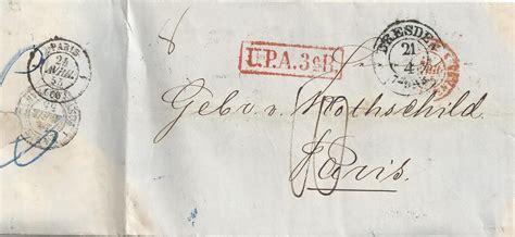 Porto Schweiz Frankreich Brief Sachsen 1855 Porto Brief V Dresden M Rot R1 Quot Upa 3er Quot N Frankreich 831 183 Heiner Zinoni