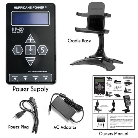 digital tattoo power supply hurricane hp 2d dual digital lcd power supply
