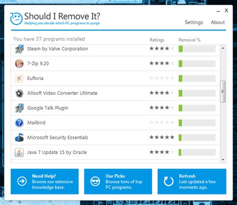 installation and use of should i remove it program windows should i remove it analyzes installed software