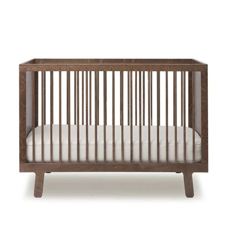 Oeuf Sparrow Crib Walnut sparrow convertible crib in walnut by oeuf