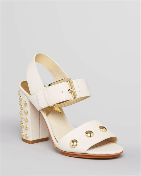 chunky high heel sandals michael michael kors sandals linden studded chunky high
