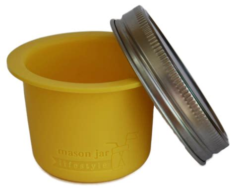 silicone divider cup w stainless steel lid for wide jars ebay