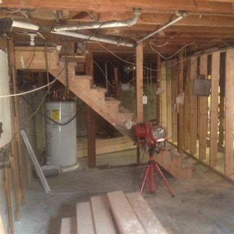 how to remodel basement remodel stair framing before design scales