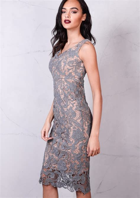 Dress Lace Grey grey lace dress fashion dresses